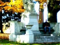 SPIRIT OF MAN WITHIN THE RED CIRCLE AT CEDAR HILL CEMETERY HARTFORD CT