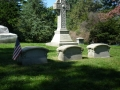 ORIGINAL THIRD PHOTO TAKEN AT THE SAMUEL COLT HEADSTONE SHOWING THE BEINGS NEAR THE TREES IN THE DISTANCE BUT BLURRY