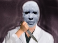 Clairvoyant Vision For LISK case of person wearing Human face mask with large Knife